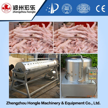 automatic stainless steel chicken feet peeling machine
