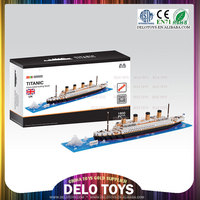 china toys trading companies plastic connector toys diamond building blocks Titanic DE0260047