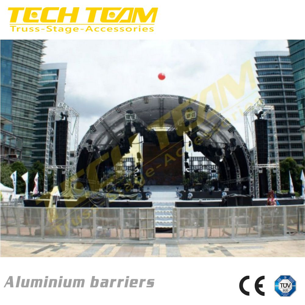 Aluminium barriers , corner event crowd barriers