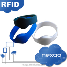 Rubber silicon chip wristband/ NFC bracelets