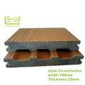 anti slip outdoor Solid CO-extrusion wpc decking