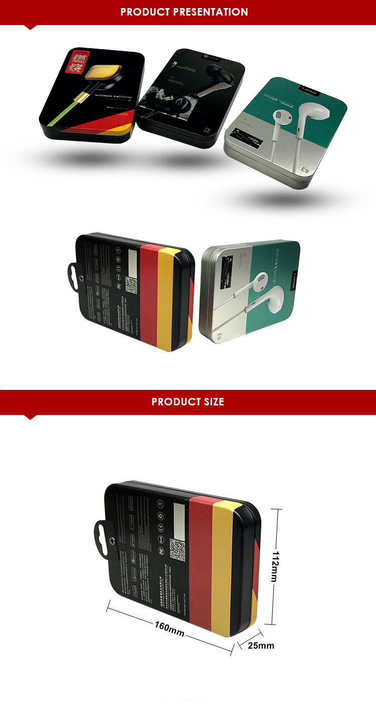 Attractive colour printing tin boxes for electronic packaging