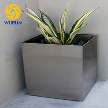 Outdoor Factory Direct Sale Stainless Square Flower Planters Giant Flower Pot
