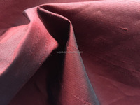 CHEAPER OPTION SILK POLYESTER DUPIONI FABRIC FOR BEDDING SHEETS