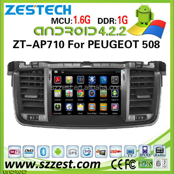 ZESTECH 7'' Android 4.2 car multimedia for PEUGEOT 508+GPS+Canbus+USB+DVD