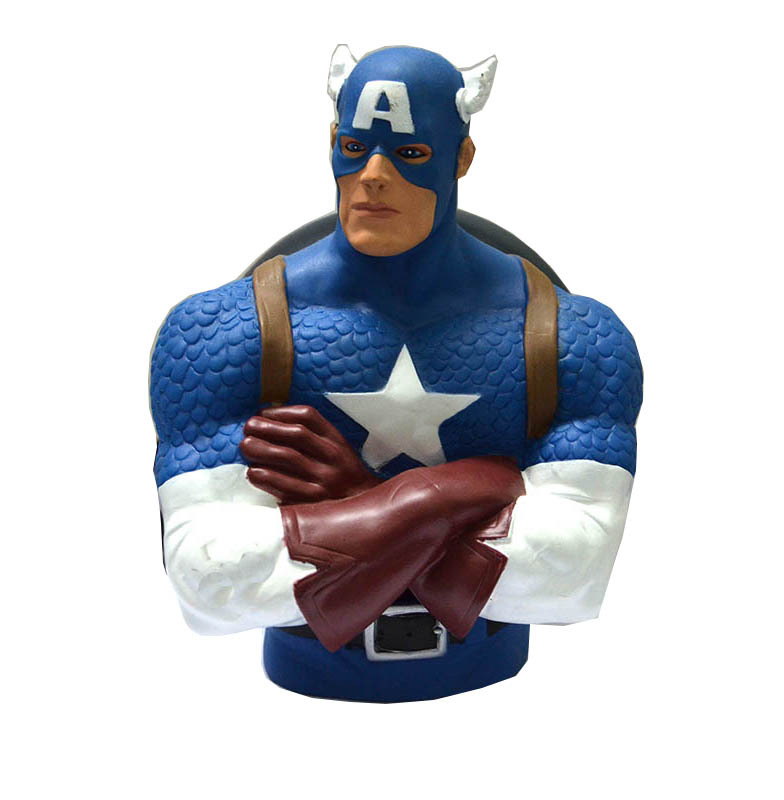 2015 Avengers Captain America Action Figures Superman Piggy Bank 18cm Movie Action Figures Hot Toys Pvc Figure Free Shipping