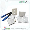 2017 OEM welcome 86*86mm UK type Creative RJ45 network cable faceplate for structured cabling system