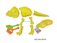 Non-Toxic Plastic Dinosaur Skeleton And Shovels Beach Toy