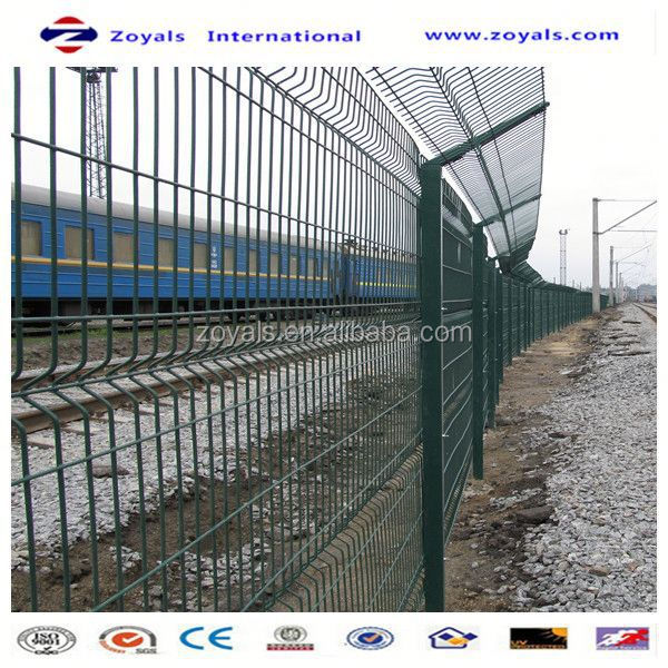 Manufacturer ISO9001 pvc welded grid high five wire fencing