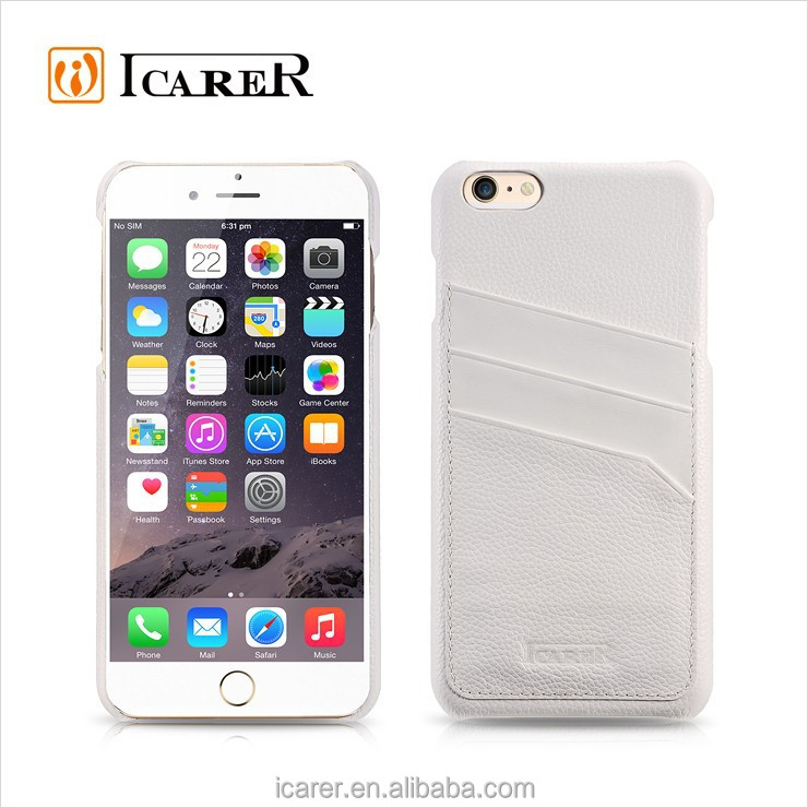 ICARER 2015 Wallet Leather Back Cover Case For Smartphone Iphone6 Plus