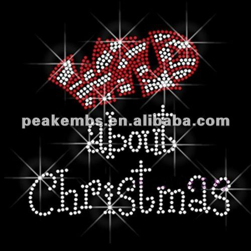 Beautiful wild about christmas hot fix stone design