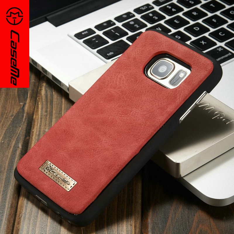 High Quality Custom Leather Wallet Cover Flip Case for Samsung S7