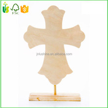 Ornamental Carved Wood Jesus Christ Cross Table Standing Decor