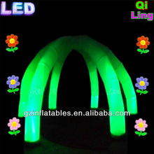 Green LED inflatable tent for party, night market, club