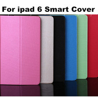 Strong Texsture Bright Color Meteor Shower Leather For Ipad 6 Case Stand Cover with Card Slot Leather case For Ipad Air 2 100PCS