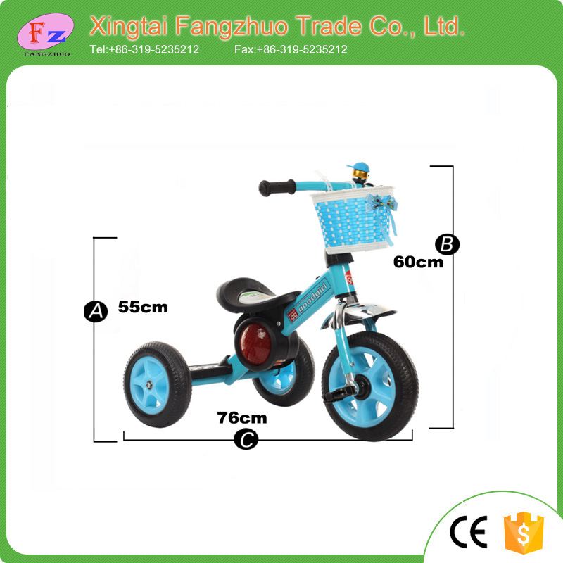 Hot sale cheap price high quality aluminum children tricycle kids 3 wheel pedal car
