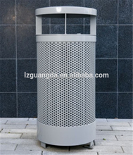 Pricing of round standing metal garbage can/waste bin/trash bin
