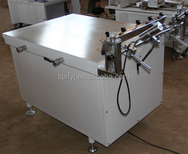 Economicail manual screen printing machine with high precision vacuum suction