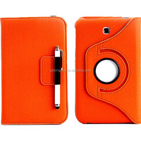 360 degrees rotatable flip pu leather case for new samsung tablet samsung galaxy note tab 10.1 N8000