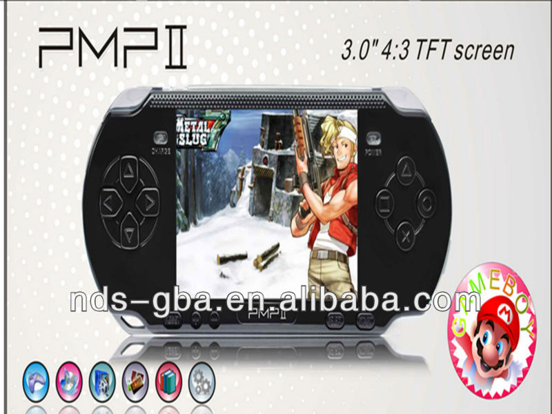 3.0 inch handle game console with 10000 games PMP2