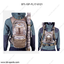 Fly fishing tackle rucksack with chest bag-fishing backpack