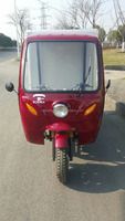 200CC Three Wheel Cargo Tricycle with Closed Box Three Wheels are in the same size