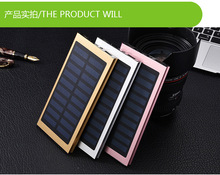 Mental polymer cell slim patent design OEM/ODM solar power bank,smart universal power bank