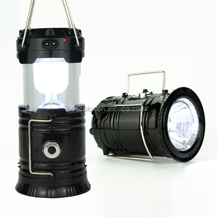Solar Power Supply Camping Lamp Night Fishing Light Telescopic Camping Lamp
