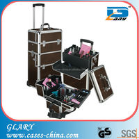 aluminum nail polish trolley makeup case