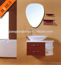 modern wall hung mirror bathroom cabinet/vanity and basin HEHUI RCTL-2012