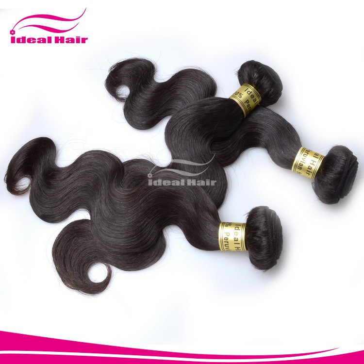 wholesale pure peruvian virgin sensational human hair weave, very thick bottom hair