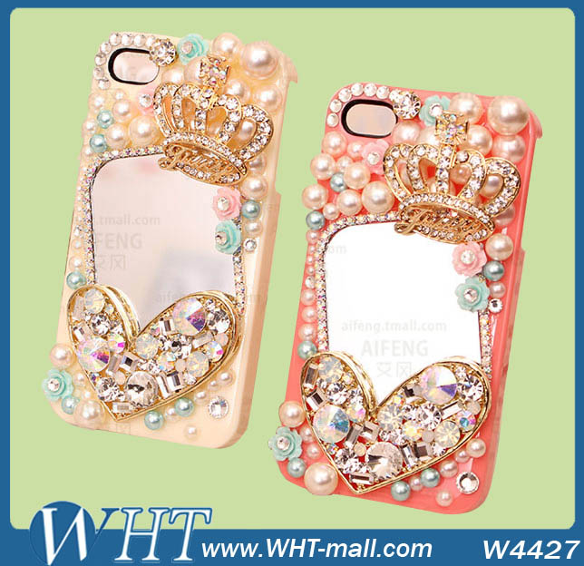 Bling Bling 2014 wholesale mobile rhinestone phone case For iPhone 5S 5G