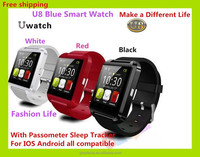 2016 New IOS and Android System U8 Bluetooth Smart Watch Intelligent WristWatch Relogio Reloj with Touch Screen BT Remote Camera