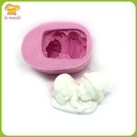 cute baby silicone handmade soap mold clay plaster molds