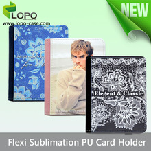 colorful sublimation blank Leather Passport Travel Wallet Ticket ID Case Cover Card Holder
