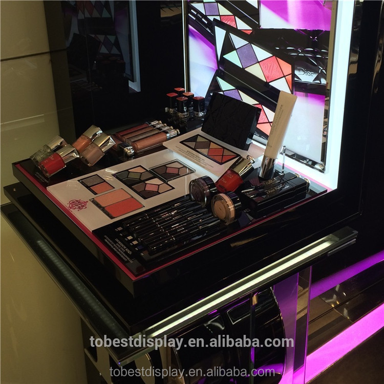 Custom cosmetic showcase, eyeliner pencil display cabinet, eyeliner display