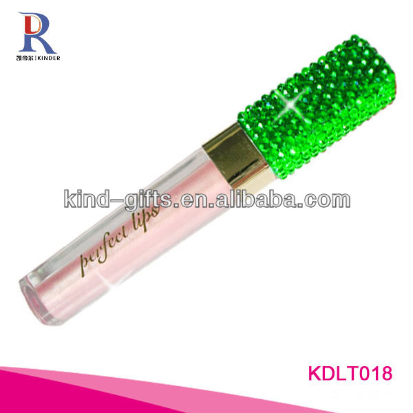 Bling bling rhinestone custom lip gloss tubes