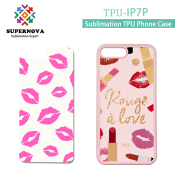 For Sublimation iphone 7 Plus Rubber Cover