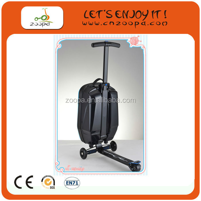 2014 new design scooter suitcase bag box for adult