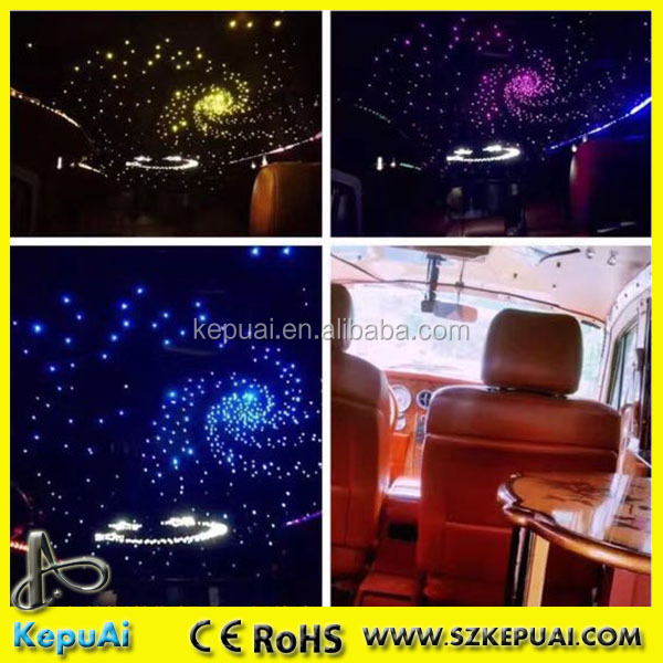 DIY 12V RGB PMMA optical fiber car top roof star ceiling light for decoration