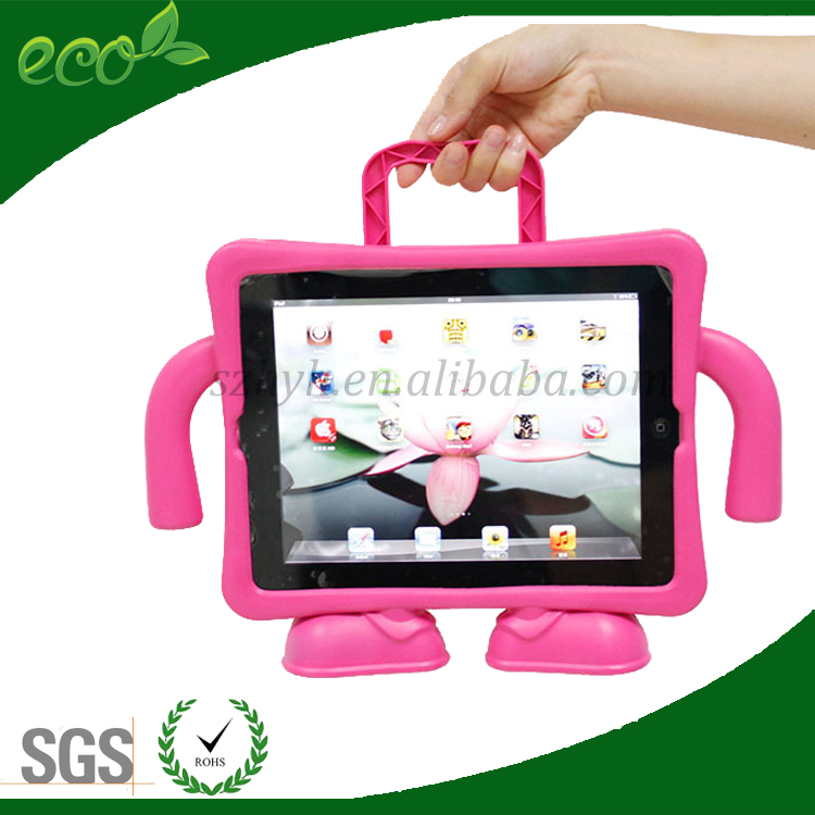 new arrival kids proof shockproof bumper case EVA foam rubber tablet pc case for ipad 2 ipad 3 ipad 4