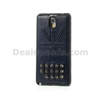 Union Jack Rivet Leather Coated TPU Case for Samsung Galaxy Note 3 N9000 N9002