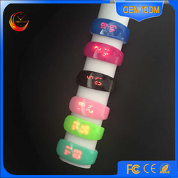 unsex wrist LED watch movements best products waterproof watch silicone strap ,CE,ROHS approved