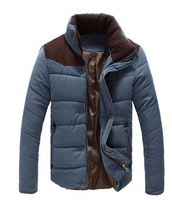 3 colors!!!!Walson 2015 Men Warm Wadded Jacket Cotton-padded men winter jackets long sleeve Slim Fitted Thicken Coat