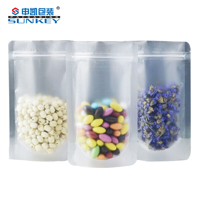 plastic one side clear one side aluminium herbal bags