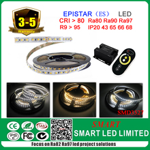 Dual color flexible led strip , SMD3527 Epistar chip , CCT from 2700k t--6500k.