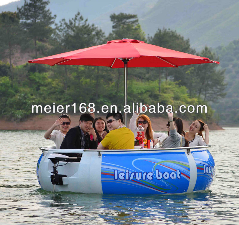 Hot selling BBQ circular boat for amusement park,motor boat for kids
