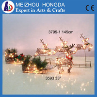 Outdoor decoration Christmas crafts deer light, Deer cart led motif lights