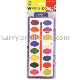 16-color water color cake (sheet-solid)