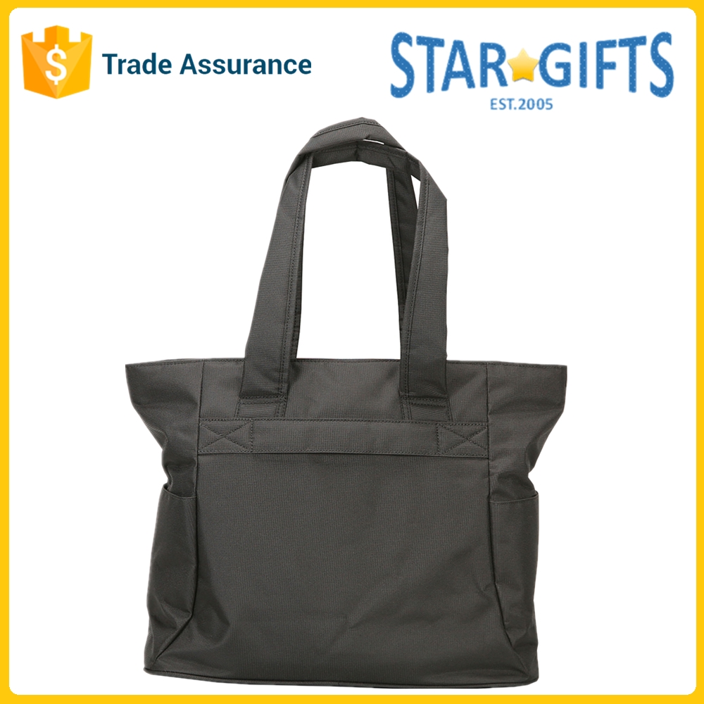 OEM Polyester Daily Use Sturdy Mens Tote Bag With Two Large Side Pocket